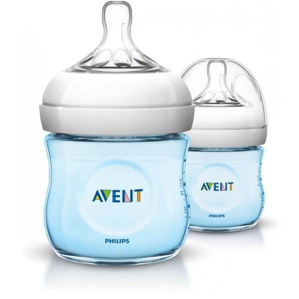 Philips Avent Natural Newborn Bottle 125ml x 2 - Blue