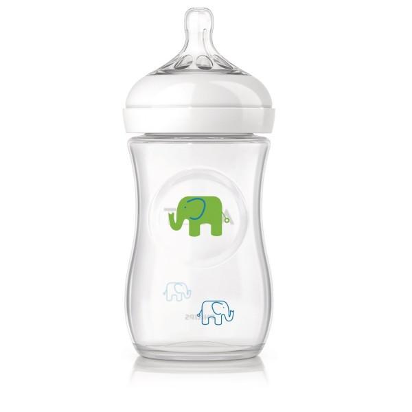 Philips Avent Bottle Natural Bottle 260ml - Elephant Boy