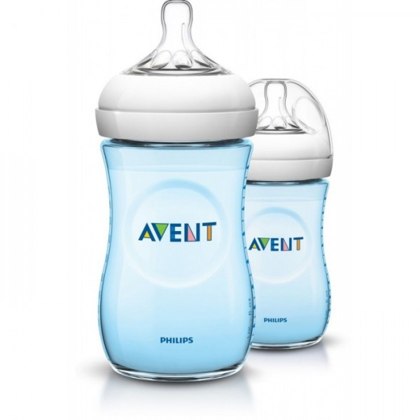 Philips Avent Natural Twin 260ml/9oz Blue