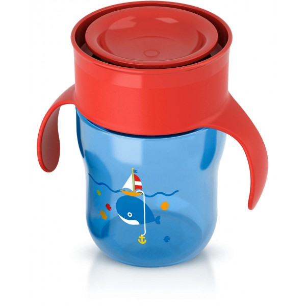 Philips Avent Grown Up Cup 12m+ - Deco Ship and Whale