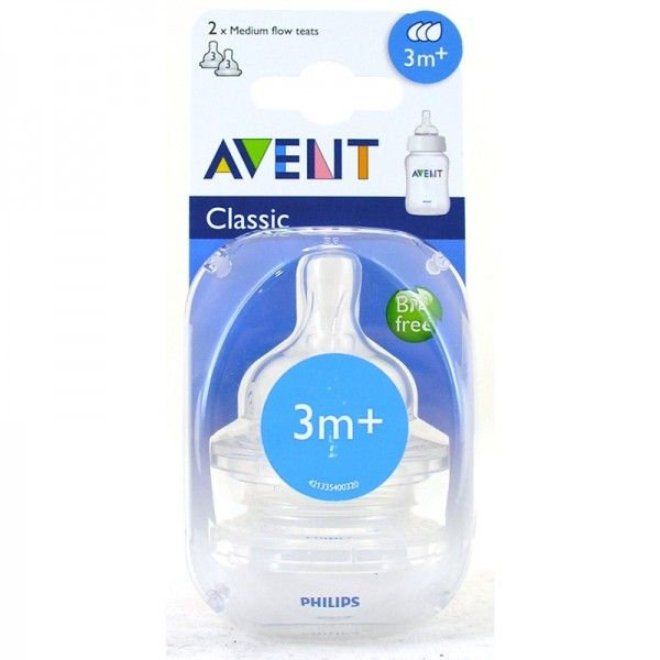 Philips Avent Classic 2 Fast Flow Teats 3m+