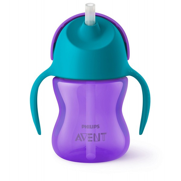 Philips Avent Bendy Straw Cup Purple Sky Blue - 200 ml
