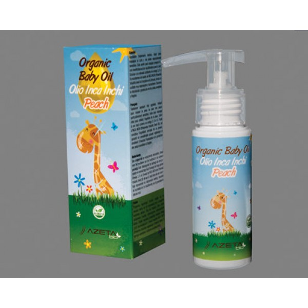 AzetaBio Organic Baby Oil Massage 20 ml Peach