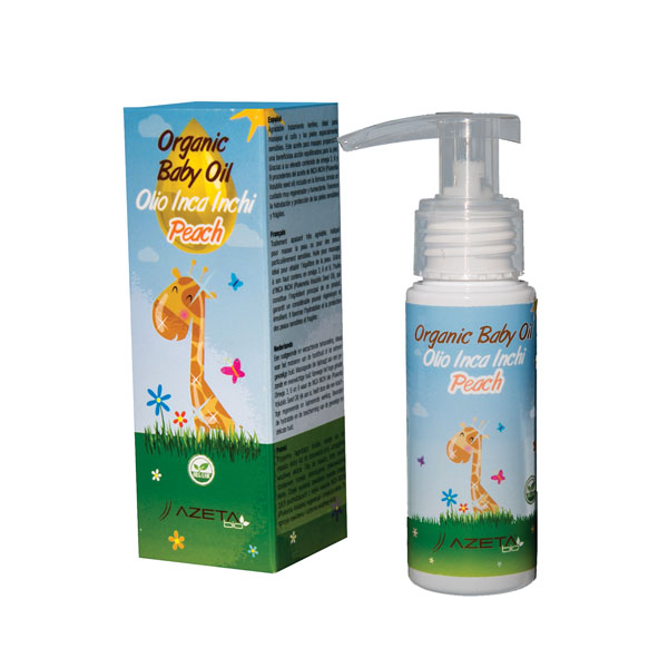 AzetaBio Organic Baby Oil Massage 50 ml Peach