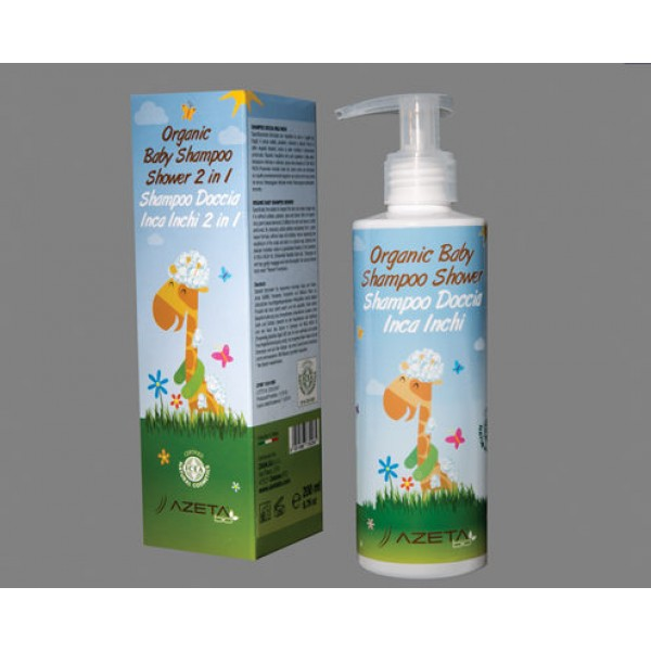 AzetaBio Organic Baby Shampoo Shower 2in1 200 ml
