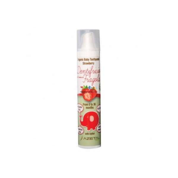 AzetaBio Organic Baby Toothpaste with Xylitol 50 ml Strawberry