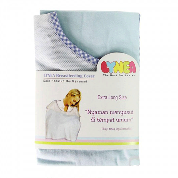 Lynea Breastfeeding Cover Extra Long  Blue