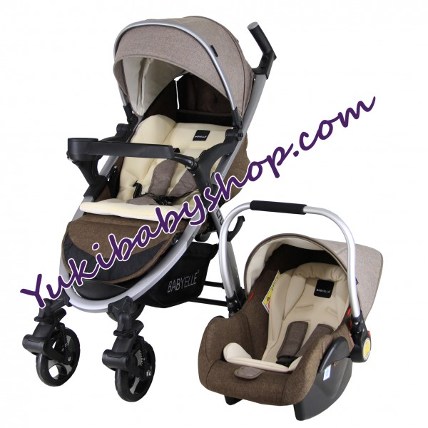 Baby Elle Cruz Travel System S702 CS1000 Beige