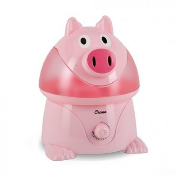 Crane Adorable Ultrasonic Pig Cool Mist Humidifier