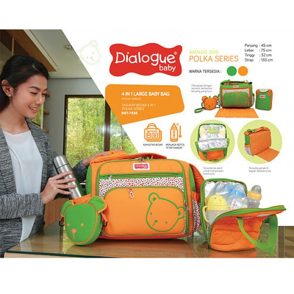 Dialogue Baby Polka Series 4 In 1 Large Baby Bag DGT-7235