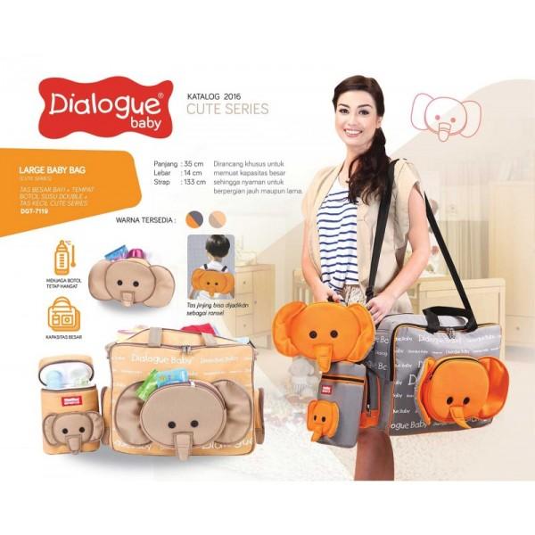 Dialogue Baby Tas Besar + Tempat Botol Susu + Tas Kecil DGT-7119