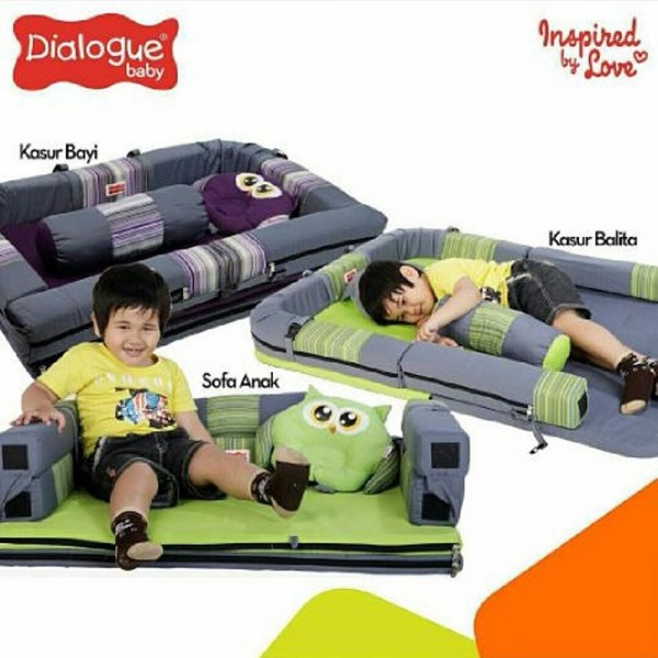 Dialogue Kasur Bayi Lipat Sofa Owl Series DGK-9214