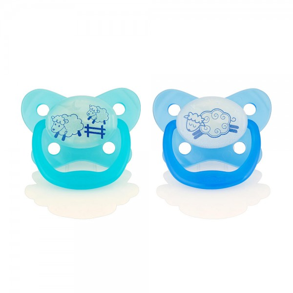 Dr. Browns 2 Pacifier 0-6m Blue