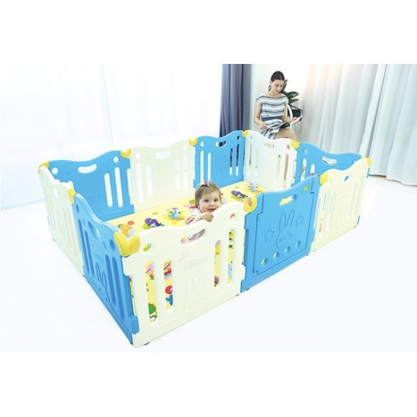 Dwinguler  Comflor Safety Gate Playpen - Sky Blue