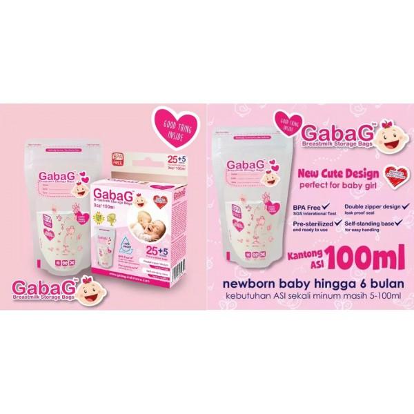 Gabag Breastmilk Storage Bags Pink 100ml