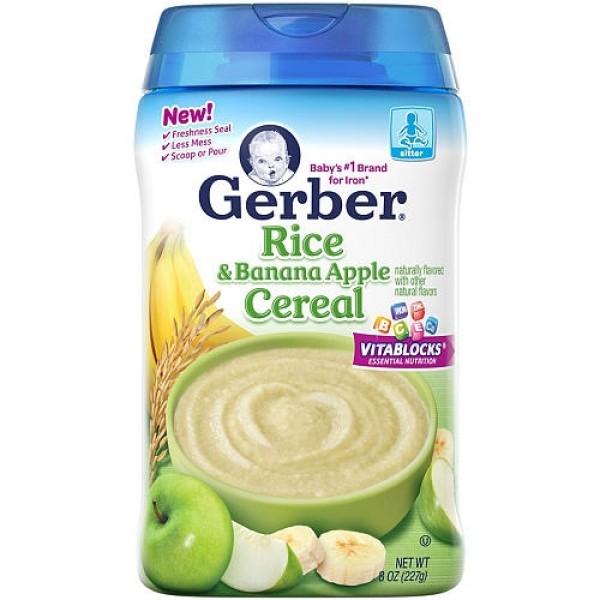 Gerber Rice & Banana Apple Cereal 227 gram