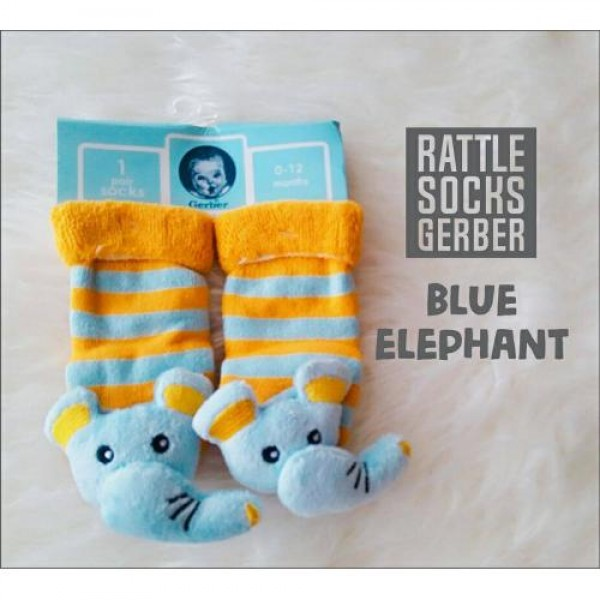 Gerber Rattle Socks 3D Blue Elephant