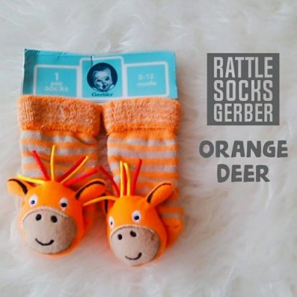 Gerber Rattle Socks 3D Orange Deer