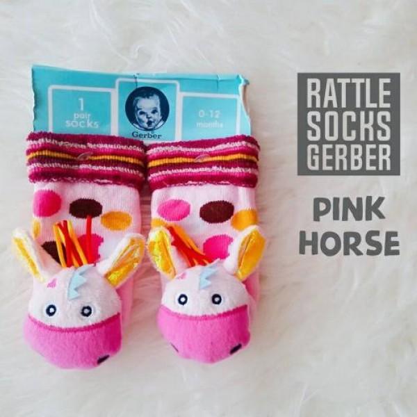 Gerber Rattle Socks 3D Pink Horse