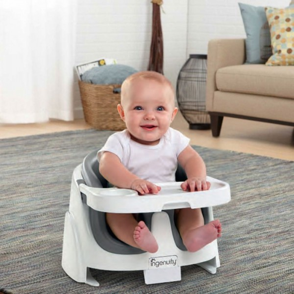 Bright Starts Ingenuity Baby Base 2 in 1 Grey