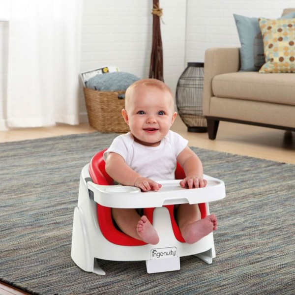 Bright Starts Ingenuity Baby Base 2 in 1 Poppy Red