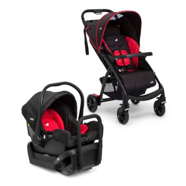 Joie Muze Travel System With Base Poppy Red