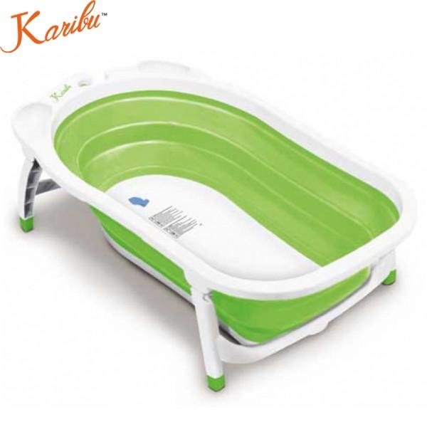 Karibu Baby Folding Baby Bath - Green