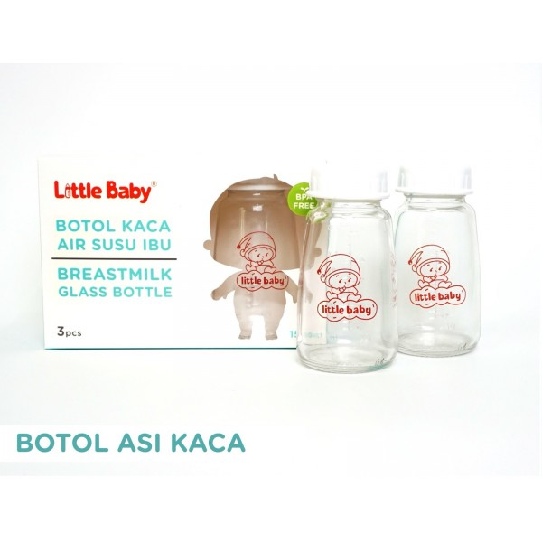 Little Baby Breast Milk Glass Bottle Isi 3