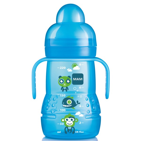Mam Trainer Bottle 220ml Blue 4m+