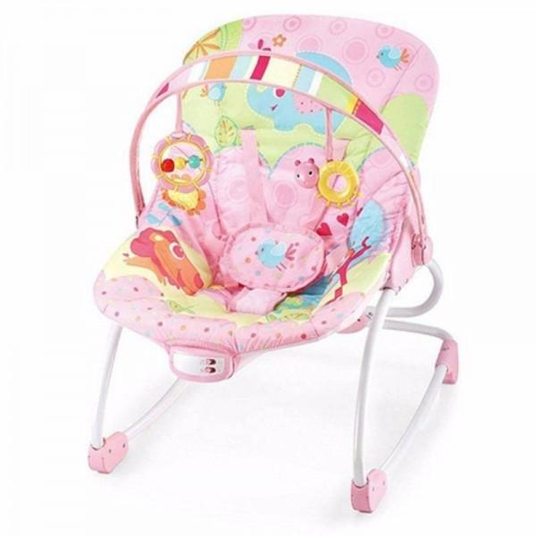 Mastela Bouncer Newborn To Toddler Rocker Pink 6903