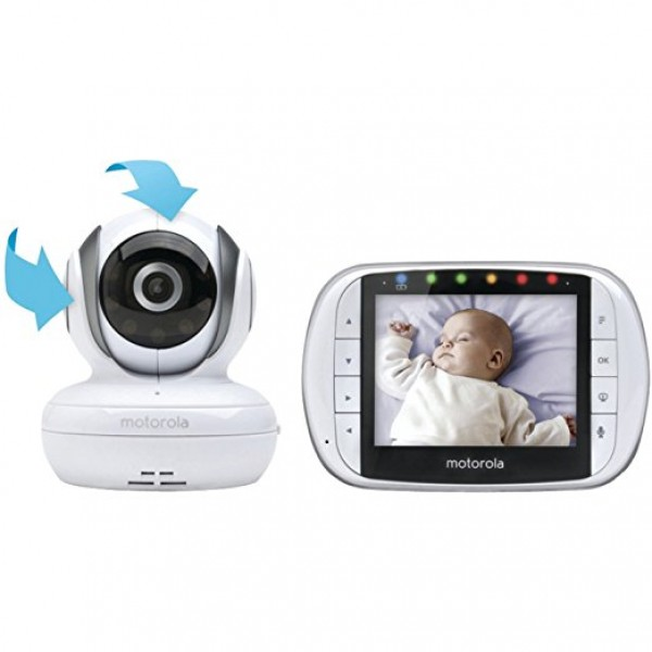 Motorola MBP36S Remote Wireless Video Baby Monitor with 3.5-Inch