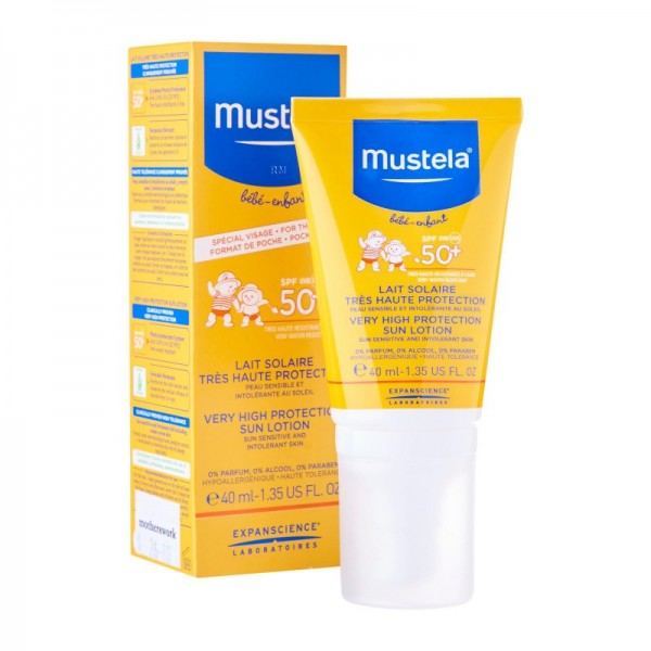 Mustela Very High Protection SPF 50+ Sun Lotion, 40 ml