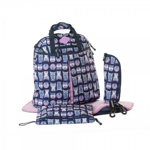 Okiedog Freckles Backpack Owl Blue Pink