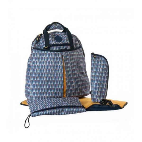 Okiedog Freckles Backpack Triangle Dot Blue