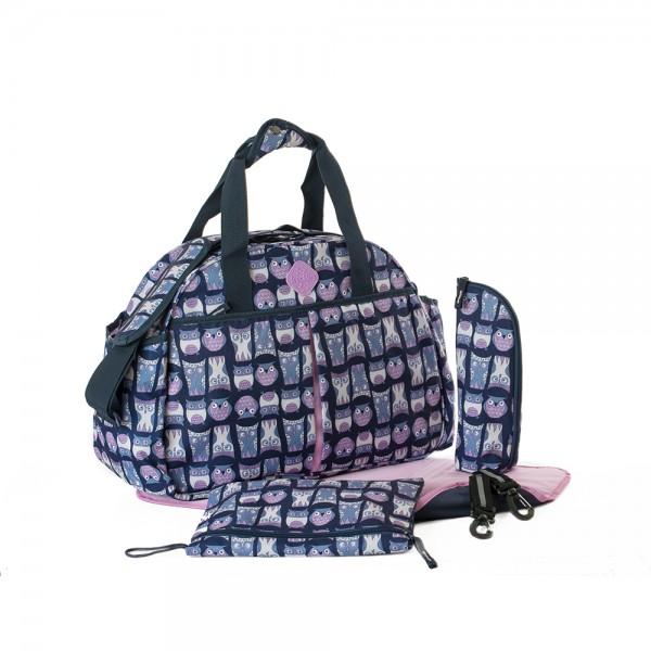 Okiedog Freckles Travel Bag Owl Blue Pink