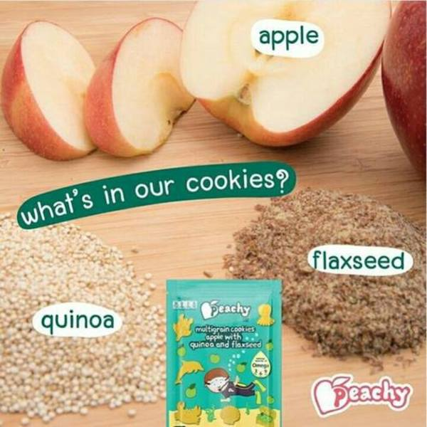 Peachy Multigrain Cookies Apple With Quinoa And Flaxseed