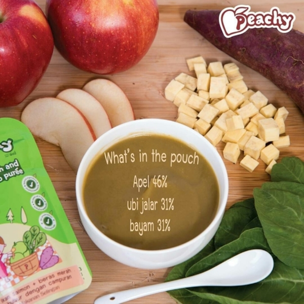 Peachy Pouch Apple Spinach and Sweet Potato Puree