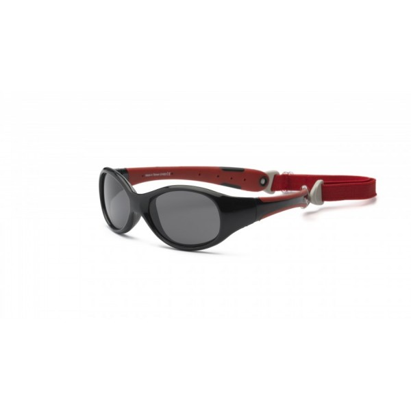 Real Kids Shades Explorer 0+ - Black Red Sunglasses