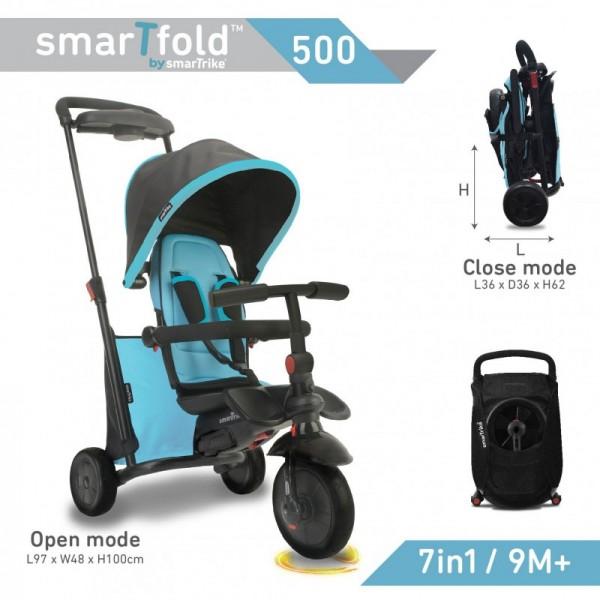 Smart Trike 7-in1 Folding Trike 500 Blue