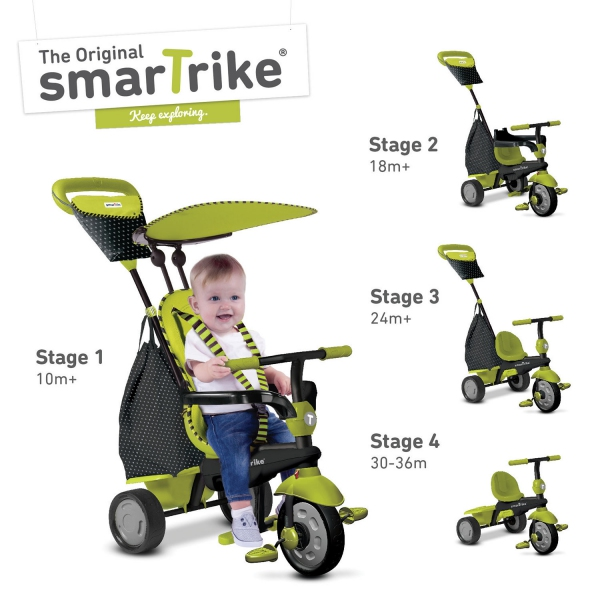Smart Trike Glow Touch Steering 4 In 1 Trike - Green