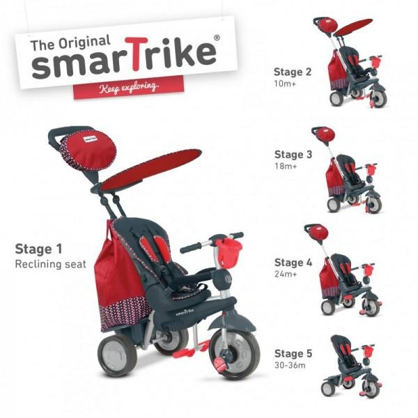 smarTrike® Splash 5 in 1 Baby Trike – Red
