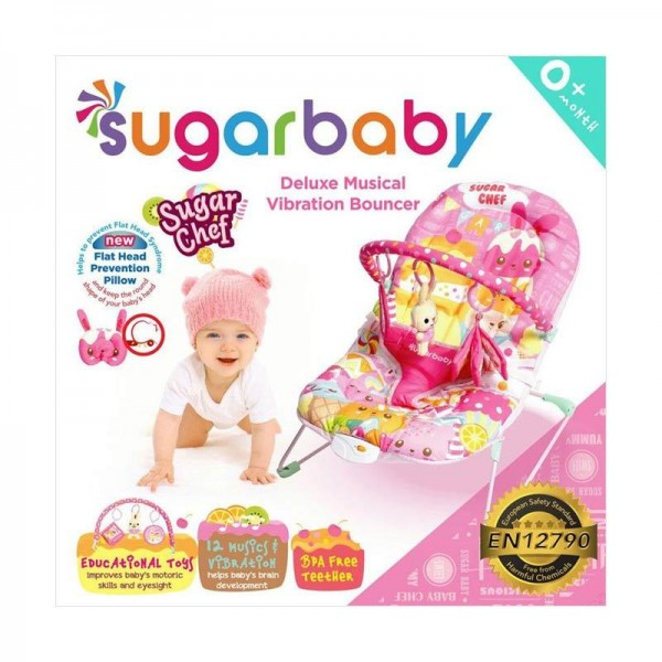 Sugar Baby Deluxe Musical Vibration Bouncer - Sugar Chef