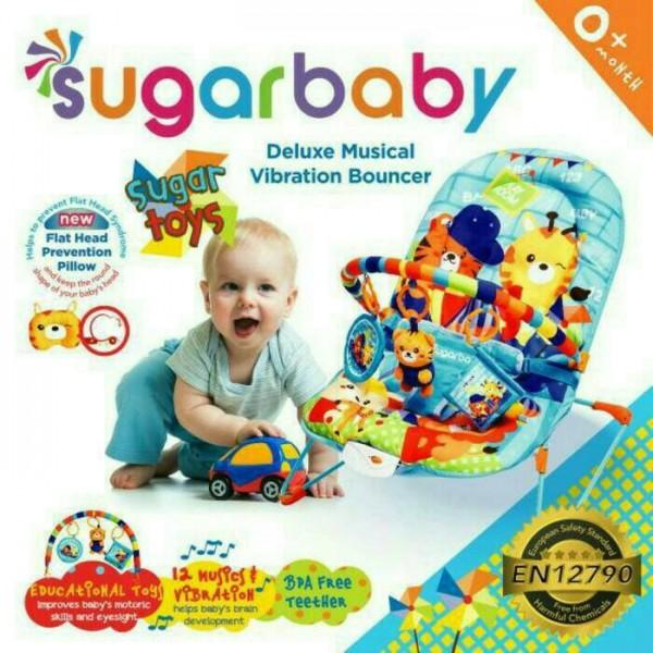 Sugar Baby Deluxe Musical Vibration Bouncer- Sugar Toys