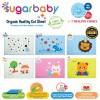 Sugar Baby Premium Organic Rubber Cot Sheet Pink Kitten