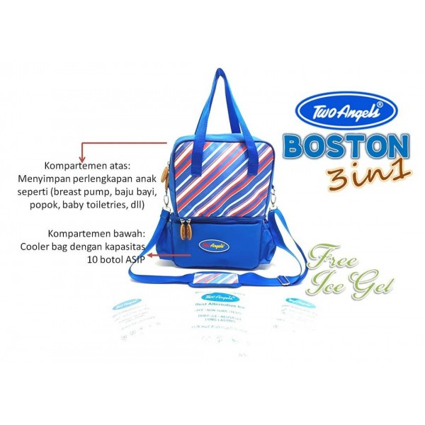 Two Angels Cooler Bag 3in1 Boston Blue