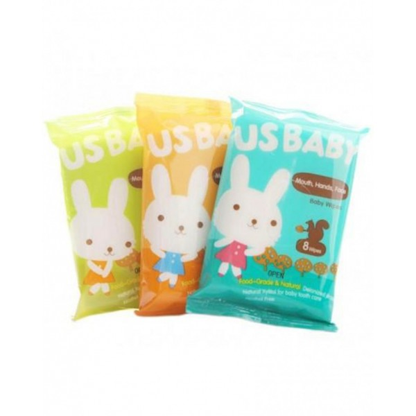 Us Baby Mouth, Hands, Face Baby Wipes 3Pcs