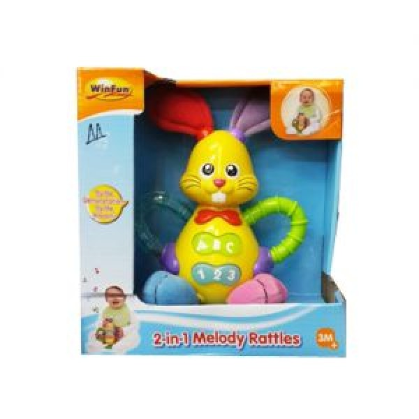 Winfun 2 in 1 Melody Rattles 3M+