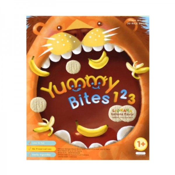 Yummy Bites 123 Banana Flavour