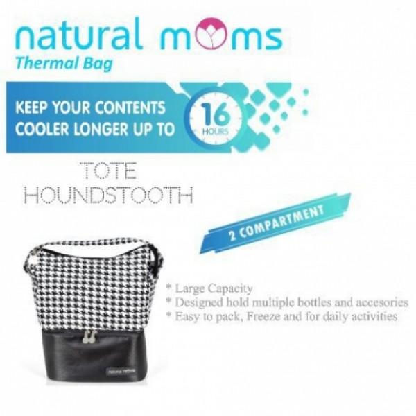 Natural Moms Thermal Bag Tote Houndstooth